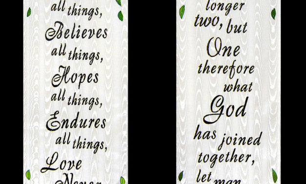 Church Wedding Banners | Use these wedding banners year after year.